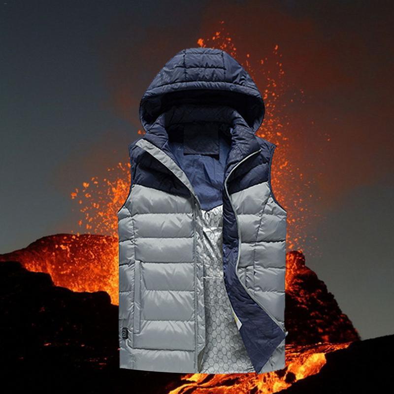 Hot Sale Men Women Electric Heated Vest Thermal Jacket Heating Waistcoat Winter Warm Clothing