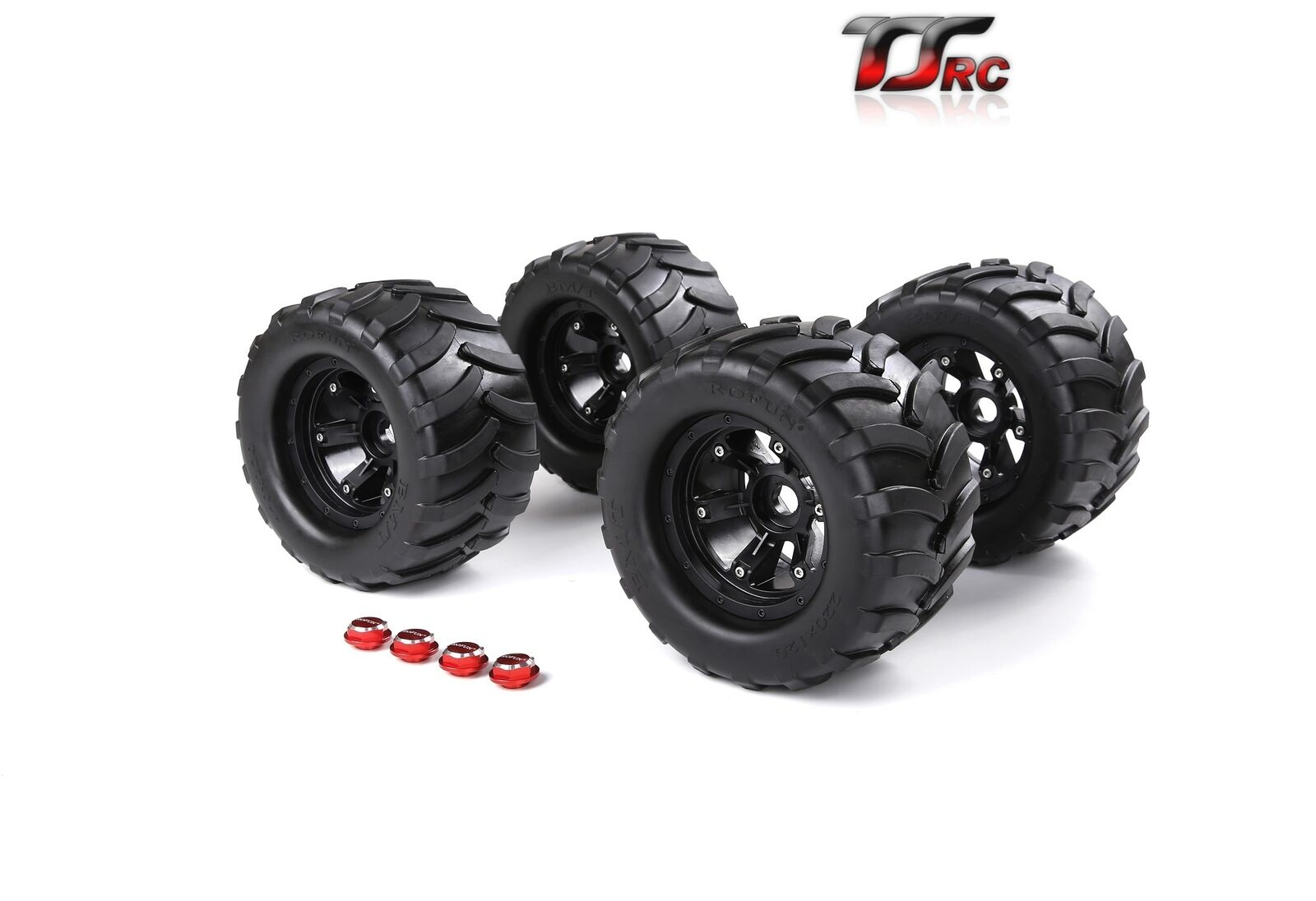 Wheel Tyre with Nut Completely Set 200*120mm for 1/5  Traxxas X-Maxx Truck Rc Car PartsWheel Tyre with Nut Completely Set 200*120mm for 1/5  Traxxas X-Maxx Truck Rc Car Parts
