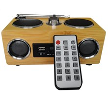 цены Bamboo Upgraded Eco-Friendly Hand-Made Light Weight Mini Portable Wood Boombox Card Speaker With Radio Function +Remote Control