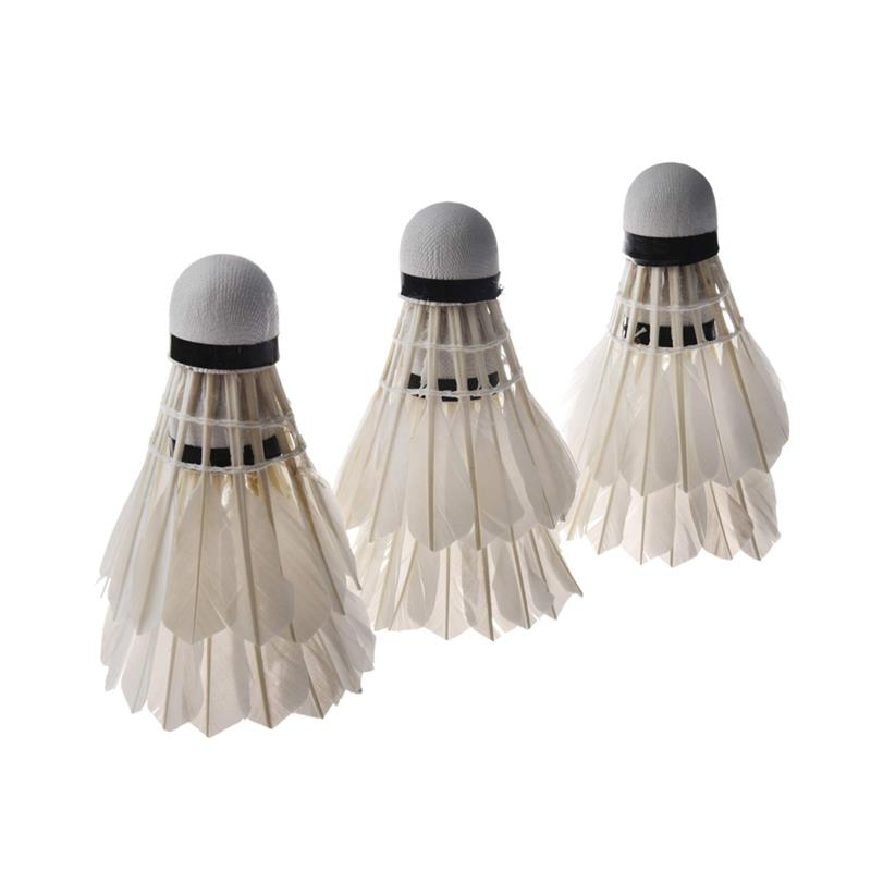 6 Pcs/Set Badminton Shuttlecocks Goose Feather Badminton Balls Outdoor Sports Badminton Accessories Durable Badminton