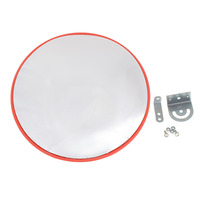 Safurance 45cm Wide Angle Security Curved Convex Road PC Mirror Traffic Driveway Safety