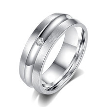 Sexy Mom Engagement Ring For Women Stainless Steel Silver Gold Color Finger Girl Gift(China)