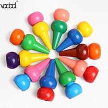 12pcs Non-toxic Kid Painting Crayon Children Safety Color Crayon Baby 3D Finger Art Supplies Kindergarten School Stationery new