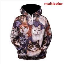 ZOGAA Brand 3D hoodies New 4 color mens Fashion casual streetwear cat pattern men hoodie Plus size S-3XL anime