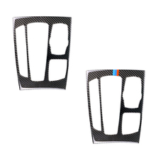 עבור BMW X5 X6 F15 F16 2014 2015 2016 2017 סיבי פחמן רכב Gear Shift פנל מסגרת כיסוי