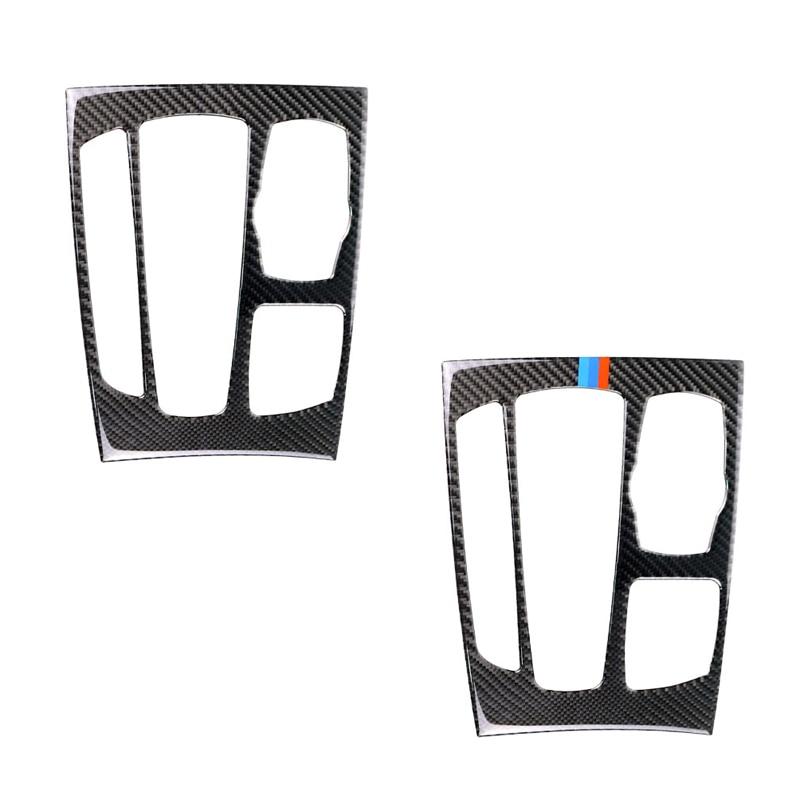 Для BMW X5 X6 F15 F16 2014 2015 2016 2017 углеродного волокна автомобиля Шестерни переключения Панель рамка Обложка-in Лепнина для интерьера from Автомобили и мотоциклы