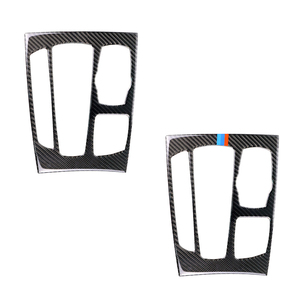 Image 1 - Para bmw x5 x6 f15 f16 2014 2015 2016 2017 fibra de carbono do carro deslocamento de engrenagem painel quadro capa
