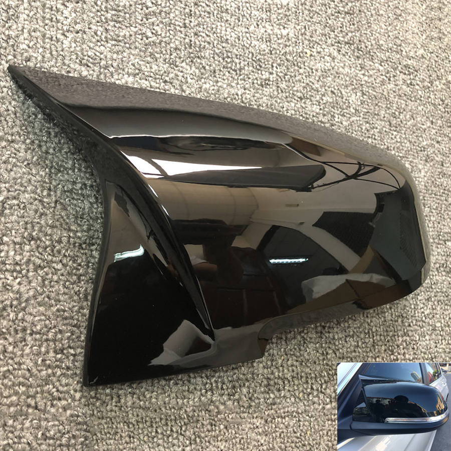 1 Pair Gloss Black Car Rearview Mirror Cover Cap For BMW F20 F21 F22 F30 F32 F36 X1 F87 M31 Pair Gloss Black Car Rearview Mirror Cover Cap For BMW F20 F21 F22 F30 F32 F36 X1 F87 M3
