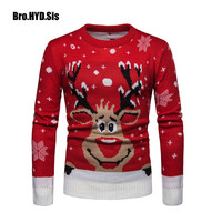 New Ugly Christmas Sweaters Men Women Santa Claus Xmas Patterned Elk Sweater Man Tops Male Winter Pullovers Male Clothing