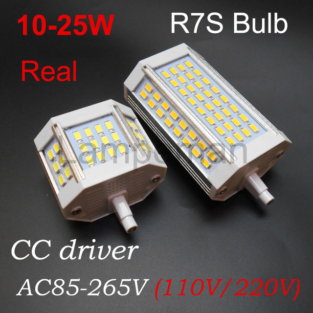 r7s led 220v 110V 10W 18w 20w 25W 30W 64 led r7s AC90-260V LED bulb light 78mm 118m  j78 J118 replace halogen lamp natural white
