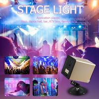 New Speaker LED Disco Stage Light Remote Control Full Color Laser Projector Voice Control Stage DJ KTV Disco Bar Light