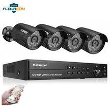 8CH CCTV система DVR комплект 4 шт. камера наблюдения 3000TVL открытый IP66 Всепогодный 1080P 2.0MP день/ночь видео система безопасности