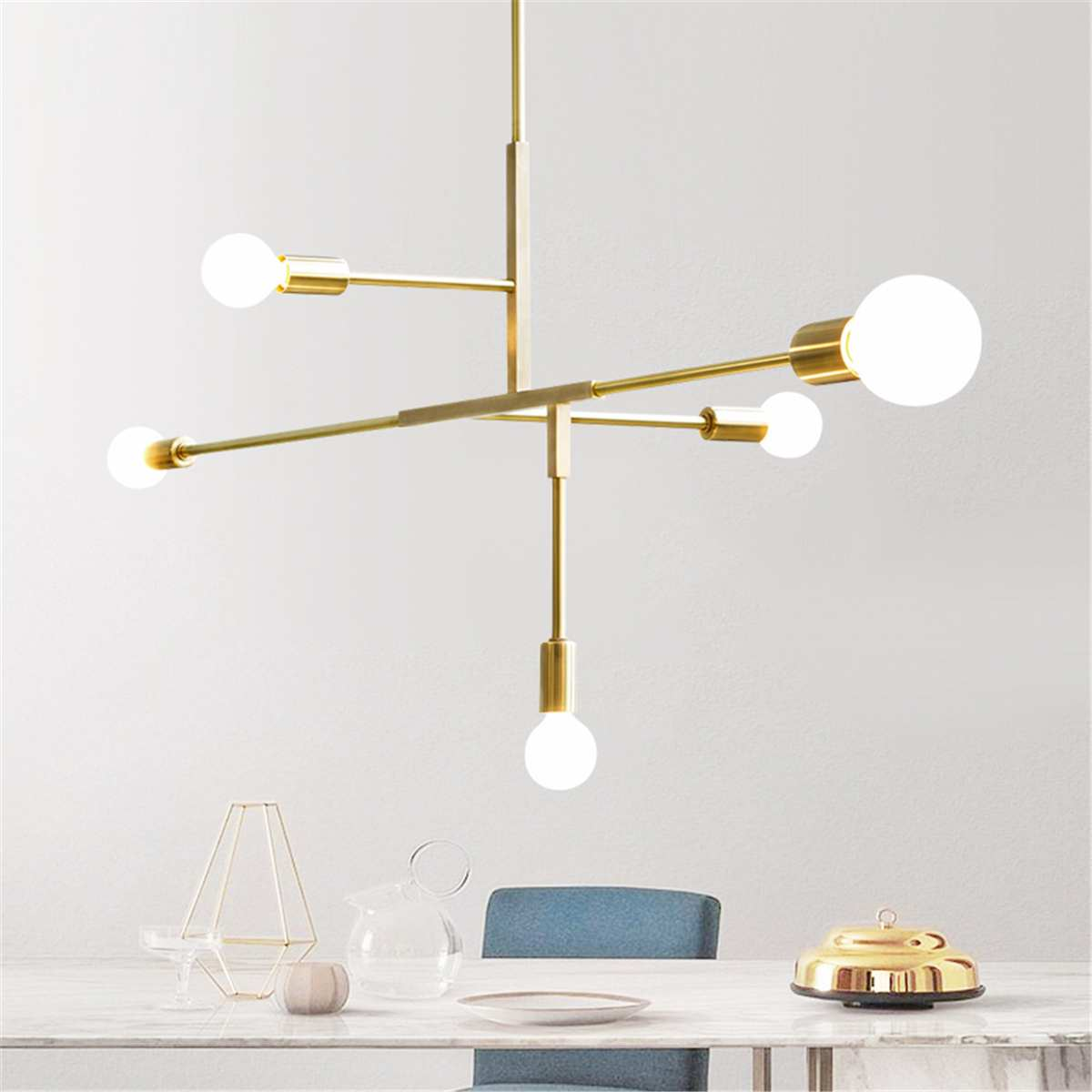 Modern LED Ceiling Chandelier Lighting Pendant Industrial Chandeliers Gold Metal Lamp Lights Home Bedroom Fixtures