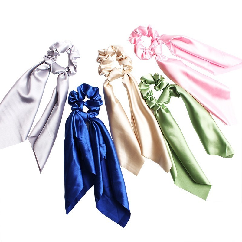 Women Solid Scrunchie Hair Rubber Ropes For Girls Boho Beach Ladies Hair Ties Accessories Fashion Elastic Hair Bands For Women in Women 39 s Hair Accessories from Apparel Accessories