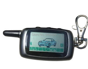 A9 2-way LCD Remote Control KeyChain + A9 Silicone Case For Two Way Car Alarm System Twage Starline A9 Key chain Fob