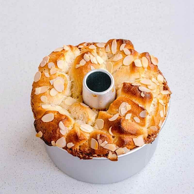 Горячая продажа 6 дюймов круглый из алюминиевого сплава шифоновая сковорода для торта съемная нижняя дымоход форма для самостоятельного изготовления торта инструменты для выпечки торта