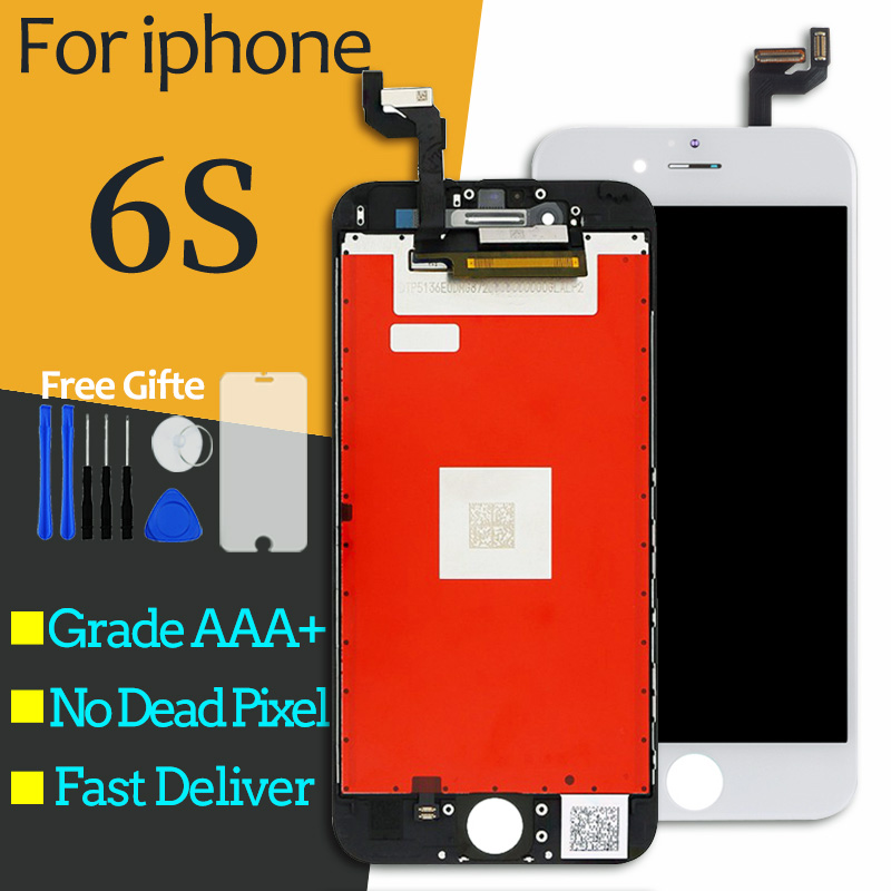 High-quality For iPhone 6S LCD Screen Display Replacement Digitizer Lcd with Frame Display Assembly with 3D Touch black white image