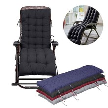 1pc 100% Polyester Lounge Chair  Cushion Comfortable Soft Deck Chaise Padding Outdoor Patio Pool Recliner Cushions Home Decor B2 giantex pull out chaise lounge rattan chair wicker porch patio height adjustable cushion outdoor furniture hw58522