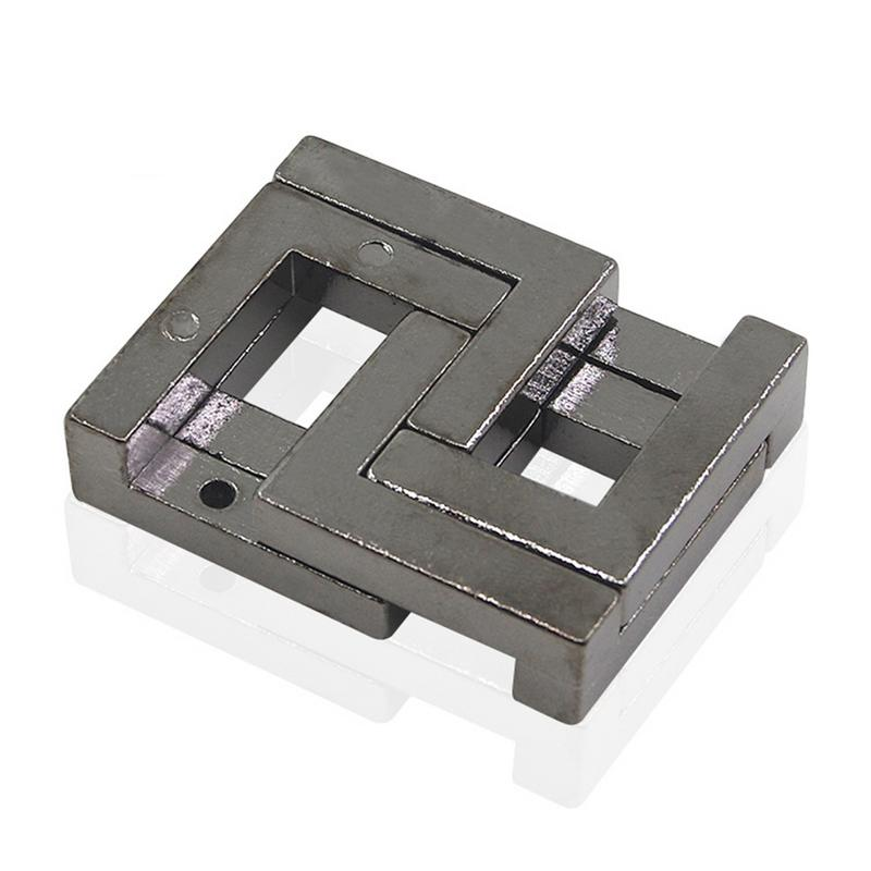 3D Alloy Square Lock Puzzles Metal Kids Educational Toys For Children Brain Teaser IQ EQ Test Model Games Magic Funny Gifts