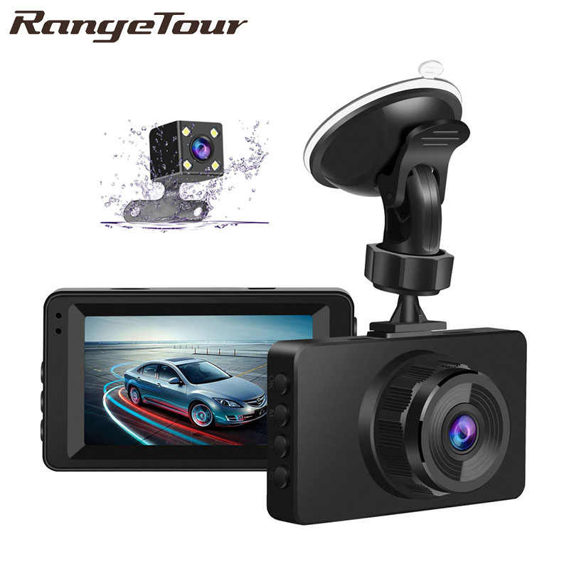 Range Tour Dash Cam Dual Lens Car DVR Camera Full HD 1080P Video registrator Parking Recorder 3 Inch IPS Front+Rear Night Vision
