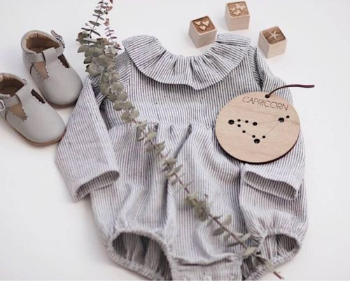 UK Newborn Infant Baby Girl Stripe Long Sleeve   Romper   Jumpsuit Outfit Clothes