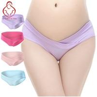4Pcs/Lot U-Shaped Low Waist Maternity Underwear Maternity Panties Cotton Pregnant Women Underwear Pregnancy Briefs Women Clothes