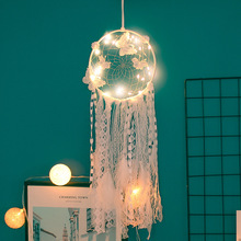 Original white dream catcher big bright birthday girl Indian feather hanging decoration art gifts retro ins style