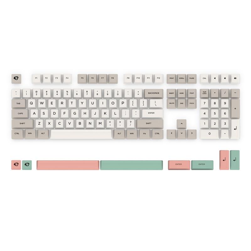 Gaming Keyboard KeycapAKKO 9009 Color 116 Keys Dye sub PBT Keycaps Keycap Set for Mechanical Keyboard