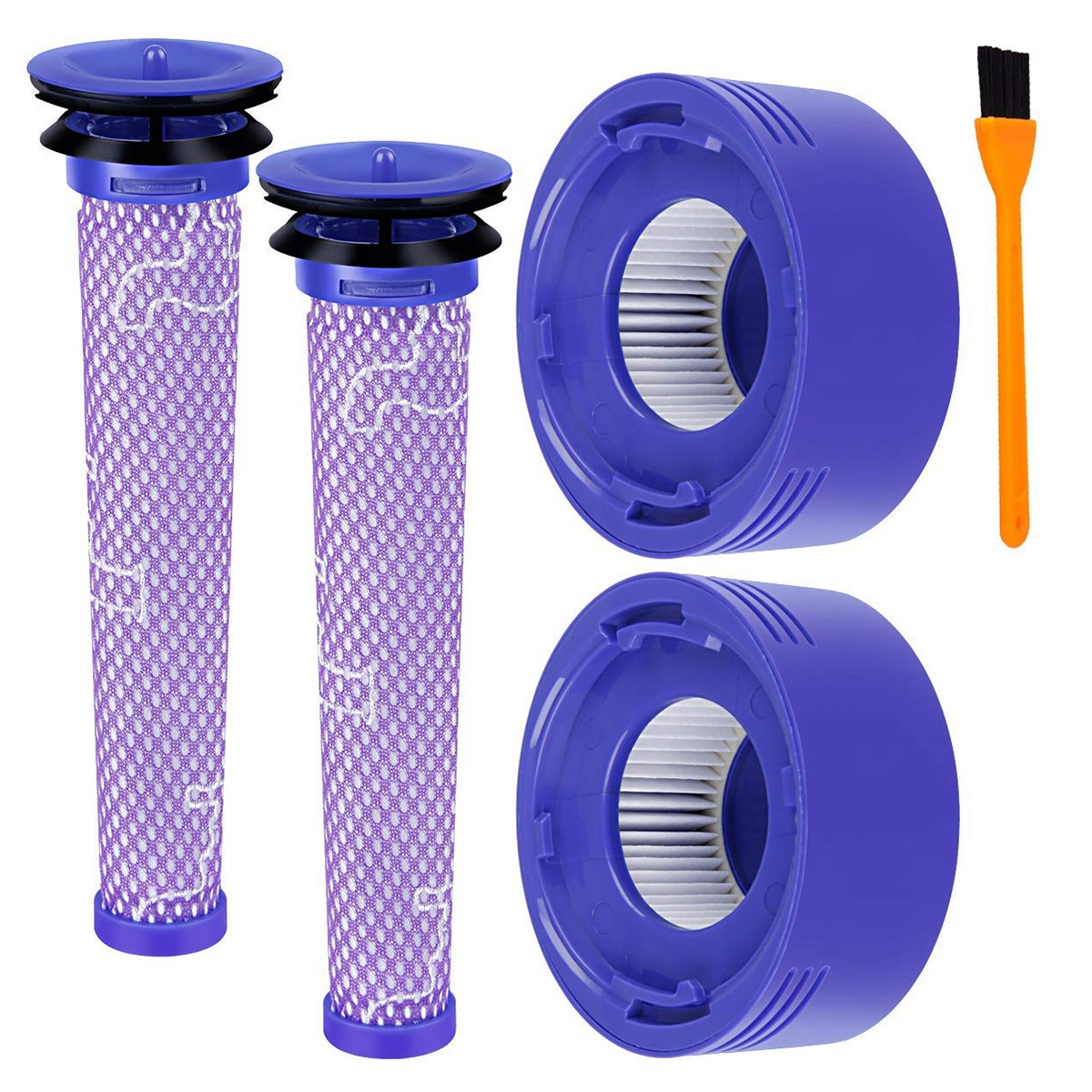 2 Pack Replacement for Dyson V8 Pre Filter + HEPA Post Filter, Compatible Dyson V7 V8 Animal Absolute Cordless Vacuum for Pre-