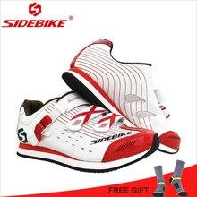 Купить с кэшбэком SIDEBIKE MTB Road Racing Unself-lock Cycling Shoes Women Athletics Zapatillas Sapatilha Ciclismo Mountain Bicycle Shoes