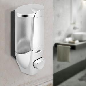 Image 2 - 300ml Manual Liquid Soap Dispenser Bathroom Wall Mount Hand Sanitizer Shower Gel Bottle Detergent Shampoo Lotion Container