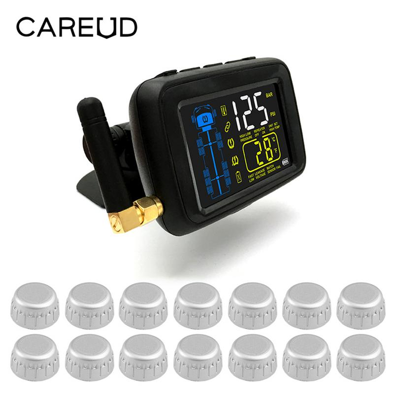 Universal Multifunction Cars Trucks TPMS 14 Wheel External Sensor Color LCD Real-time Highly Accurate Prevent Puncture