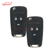 Kigoauto 2pcs flip remote key 2010 2011 2012 2013 2014 for Chevrolet Cruze 3 button 433 Mhz with ID46 chip 315 433 868 mhz smart remote key 4 buttons for bmw 3 5 7 series cas4 system 2009 2010 2011 2012 2013 2014 2015 2016 kr55wk49863