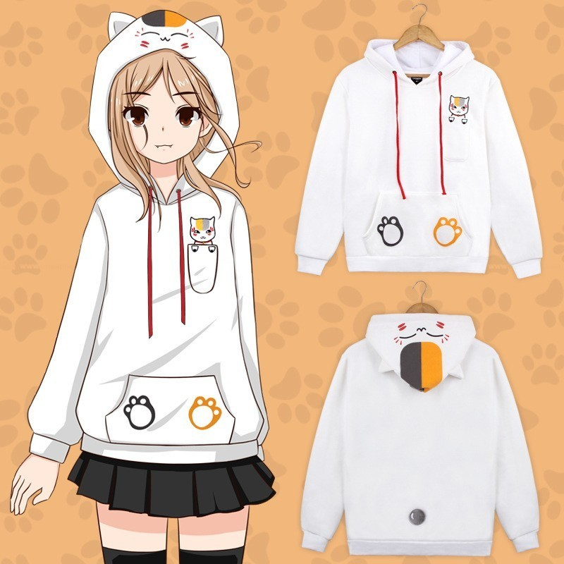 Anime Natsume Yuujinchou Nyanko Sensei Cat Cosplay Costume Coat Jacket Cotton Thicken Clothes Hoodie Sweatshirts