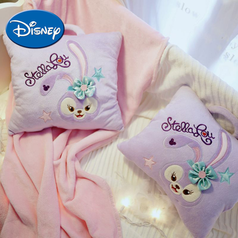 Disney Violet Ballet Rabbit Quilt Dual Purpose Warm Hand Blanket Three Use Cushion Back Cushion Practical Girl Baby Gift