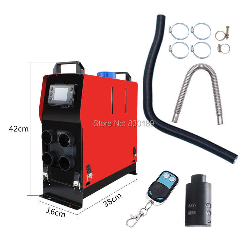 VEVOR 5KW 24V Diesel Air Heater,Diesel Parking Heater Muffler Diesel Heater with Remote Control with LCD Thermostat for Caravan Motorhome and Bus