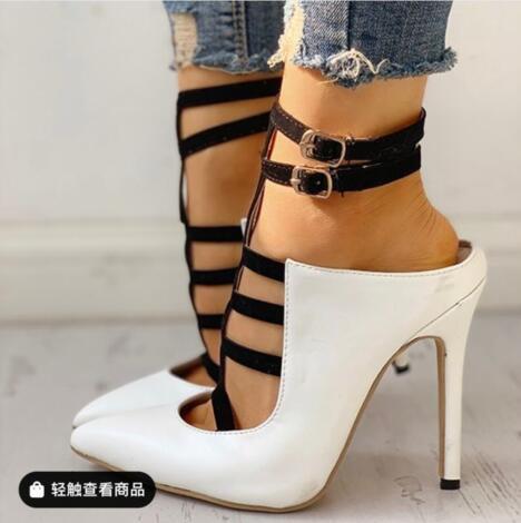 Weibliche Heel Sandalie Sandalen Plattform High Party Metall Sommer Damen Frauen Schuhe Schnalle Sexy BvaYwwq