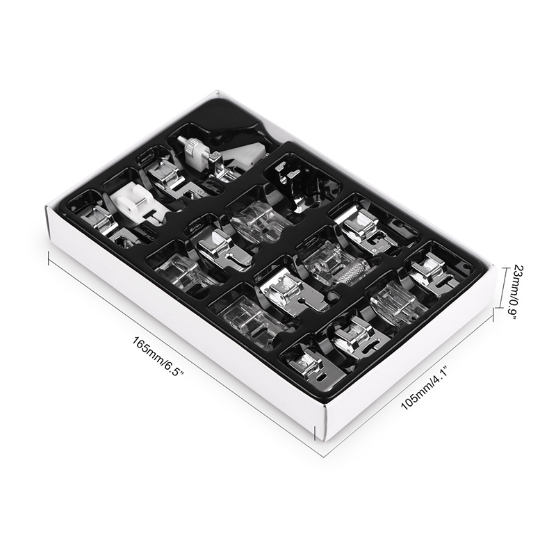 16pcs Sewing Machine Presser Foot Feet Kit Set With Box Brother Singer Janom Sewing Machines Foot Tools Accessory Sewing Tool 10