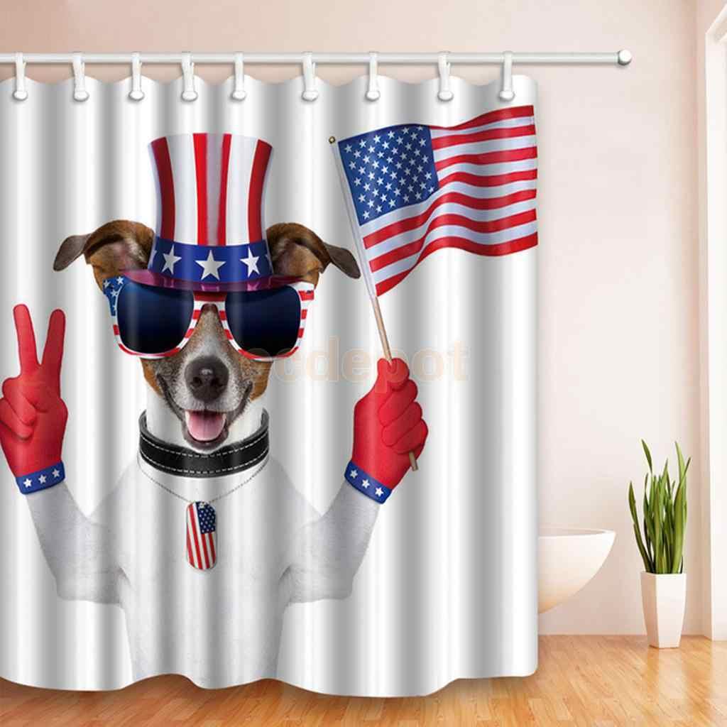 Patriotic American Usa Flag Bathroom