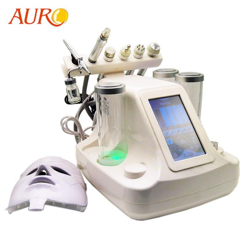 AURO 2019 Novos Produtos Portáteis Ultra-sônica Oxigênio Dermoabrasão Diamante Máquina de Casca De Jato de Água de Limpeza Profunda Facial com RF S515