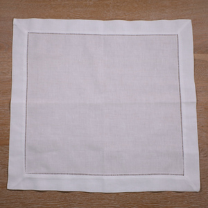 "Image 2 - N002 18: 120 ชิ้นสีขาว Hemstitch ผ้าเช็ดปาก ผ้าลินิน 55/45 Cotton Blend 18 ""x 18"" Ladder Hemstitch ผ้าเช็ดปาก"