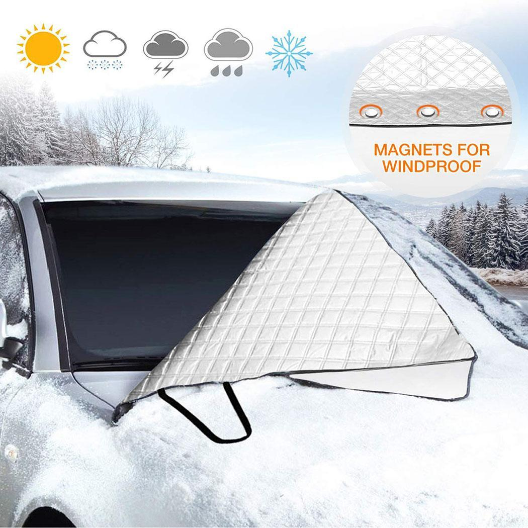 Protection Foldable Ice General Winter Cover Removable Cover Solid Silver Thicken Fornt Rear Windshield Cover Block Shields