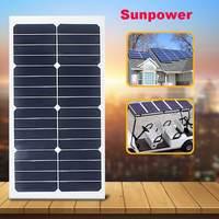 Flexible Solar Panel 12V/5V 20W Solar Charger For Car Battery Charging 12V 18V 8pcs Monocrystalline Cells For hause,boat,roof