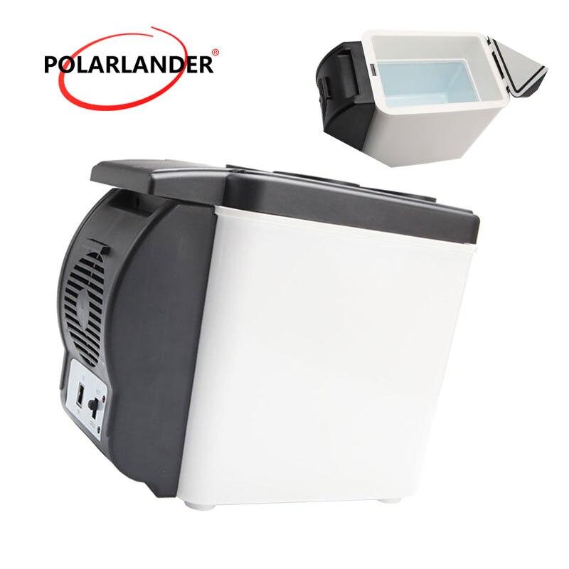 12V Multi-Function Home Travel Cooler Auto Freezer Double Use Warmer Portable Car Refrigerator Mini Fridge ABS 48W