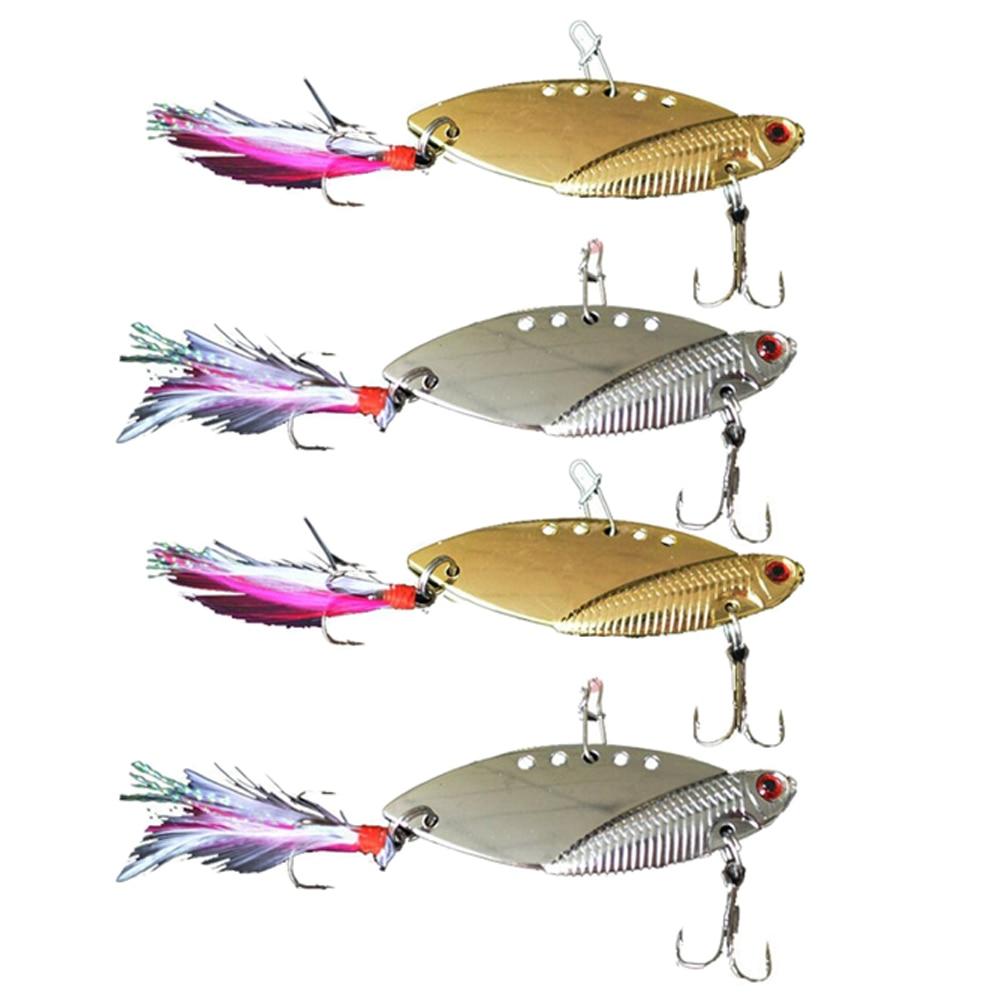 Contemplative 4pcs/lot Metal Hard Fishing Hook 10g 5cm Lure Bait Bass Crankbait Fishing Spinner Blade For Bass Fishing Accessories Fishing Sports & Entertainment