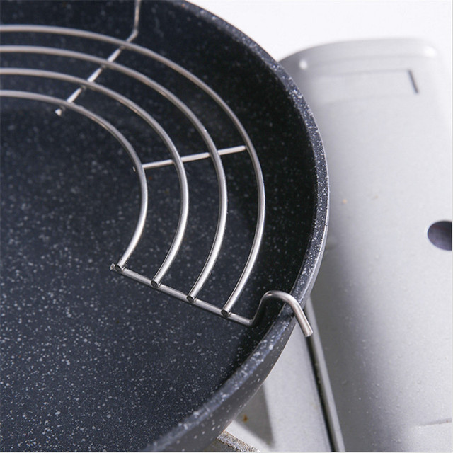 Two Sized Stainless Steel Semi-circular Sauce/Oil Drain Rack