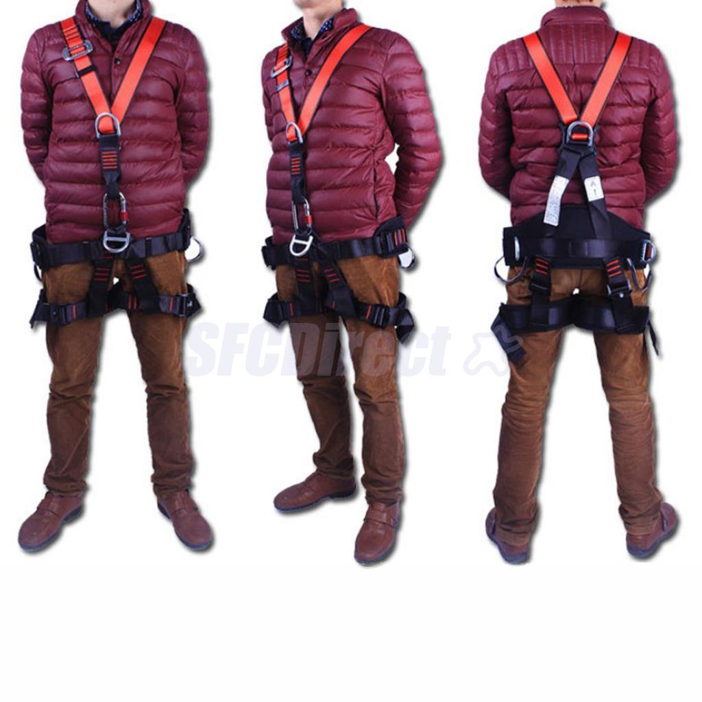 Harnais de sauvetage d'escalade réglable équipement de Protection ceinture de sécurité Protection complète du corps pour équipement d'alpinisme