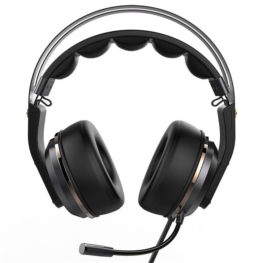 Fones de ouvido do jogo do som do surround de usb 3d do fone de ouvido do jogador do pc de xiberia t19 com microfone do cancelamento do ruído ativo conduzido para o computador - 4
