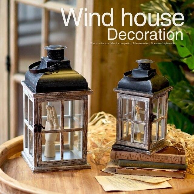 Chandelier de maison en bois décoration marocaine   Style rétro, Europe, lanterne pour décoration de maison, style rétro Pub, bougeoir romantique