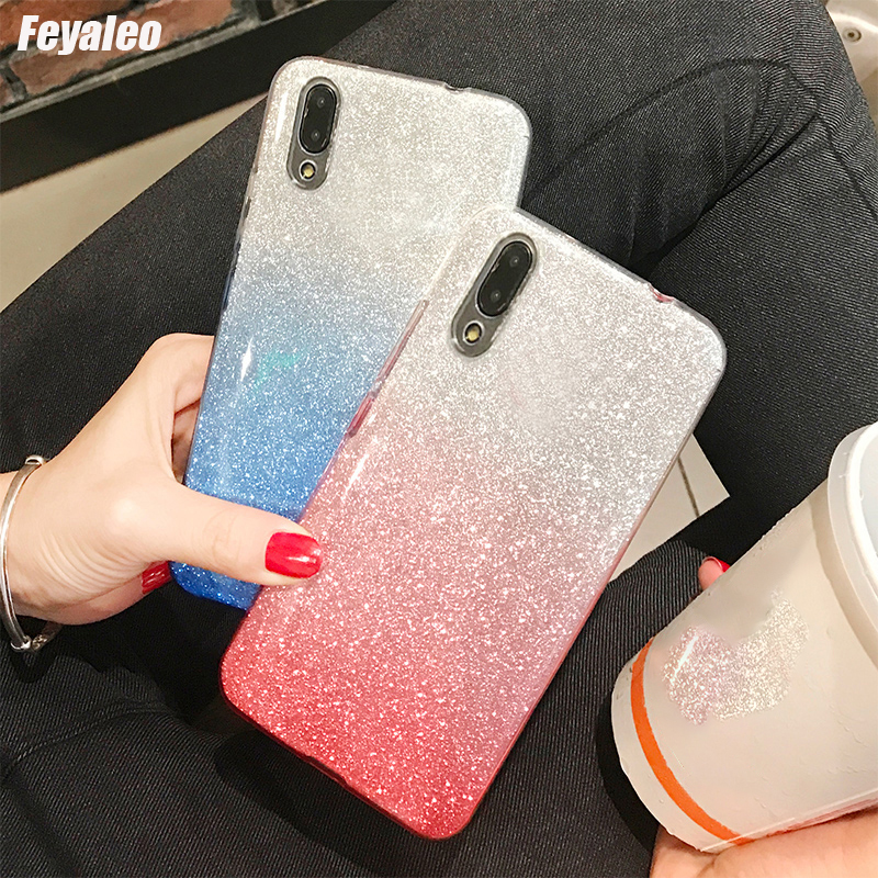 Glitter <font><b>Cases</b></font> For <font><b>ASUS</b></font> Zenfone 5 4 3 Max Live L1 M1 M2 ZC520KL ZA550KL ZB555KL <font><b>ZC520TL</b></font> ZC554KL Phone <font><b>Case</b></font> Gradient Color Cover image